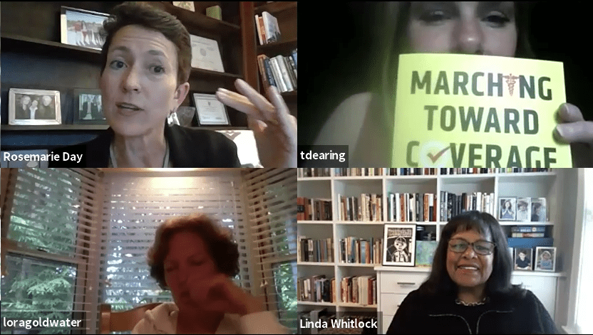 Watch the Virtual Book Talk with Rosemarie Day: Marching Toward Coverage